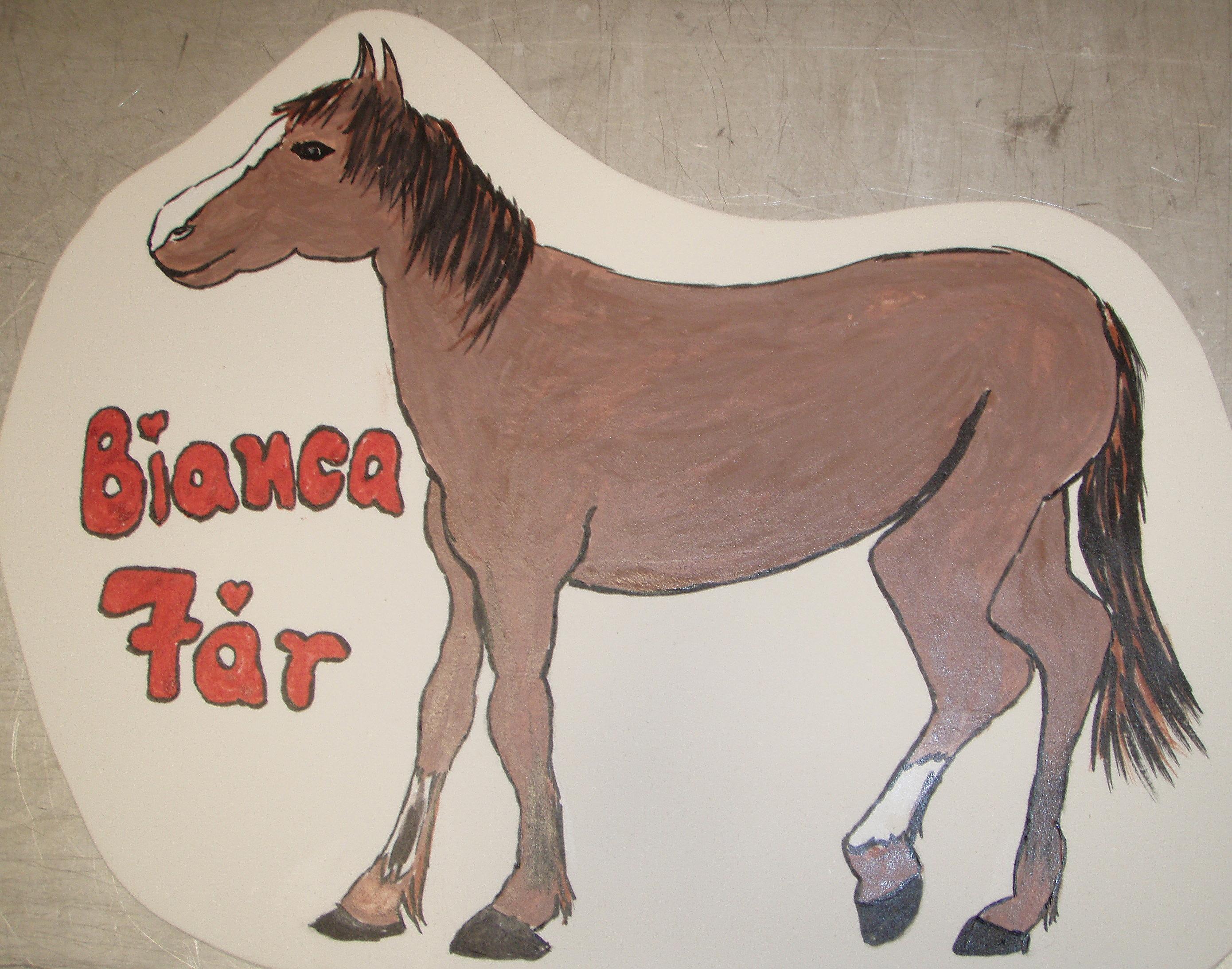 Bildtårta Häst