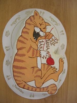 Bildtårta Katt