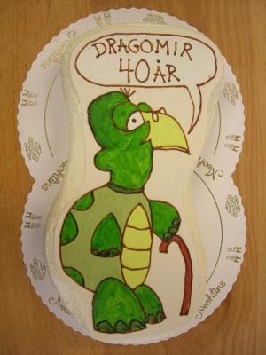 Bildtårta Sköldpadda